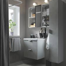 enhet tvällen badeinrichtung 18 tlg betonmuster weiß