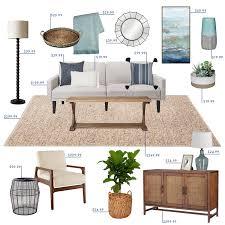 target budget living room emily henderson