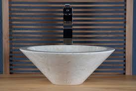achat vasque à poser en marbre beige sanur walk vasque de