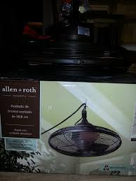 new find awesome portable ceiling fan by allen roth hang