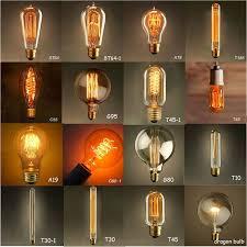 vintage edison light bulbs tungsten wire light source pendant
