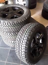 Original Isuzu 17'' Mags Black 4x With New Tyres Goodyear Wrangler ...