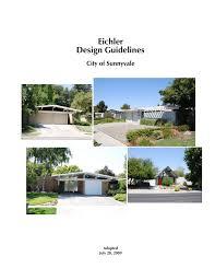 100 Eichler Landscaping Design Guidelines City Of Sunnyvale