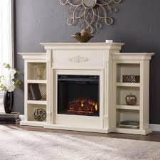 Harper Blvd Dublin 70 inch Ivory Electric Fireplace Free