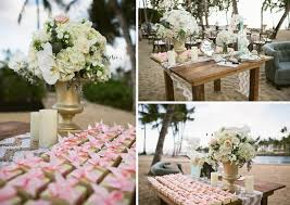 Wedding Welcome Table Favors Hawaii Vintageandlace