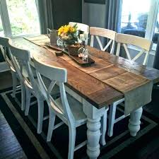 Farmhouse Table Chairs Dining Chair Plans Set With Bench Furniture