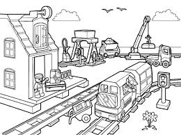 Pictures Of Lego Train Coloring Pages