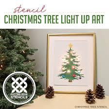 Twinkling Christmas Tree Lights Canada by Stencil Christmas Tree Light Up Artwork Stencil Stories