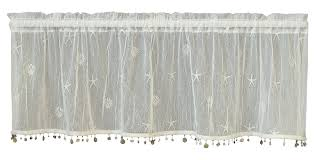 Battenburg Lace Curtains Ecru by Amazon Com Heritage Lace Sand Shell Valance With Trim 45 By 15