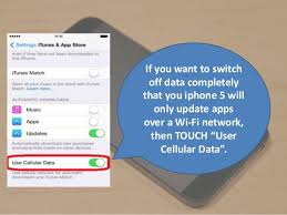 Apple iphone 5 Step by step guide to turn off auto update of apps