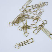 le bureau laiton 15 trombones house pour le bureau le rangement 65mm flèche