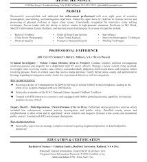 Law Enforcement Sample Resume Federal Promotion Template Templates Free Entry Level Phenomenal
