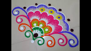 Innovative rangoli design corner Rangoli design DEEPIKA PANT