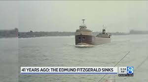 Edmund Fitzgerald Sinking Location by 41st Anniversary Of Edmund Fitzgerald Sinking Youtube