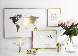 NEED This Gold Foil World Map Poster And Pref The Other Two Pls Kthxbi