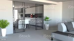 schiebetür wohnzimmer und küchepartition moderne wohnungseingang industriellen stil stockfoto und mehr bilder aluminium