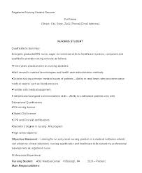 Nursing Sample Resume Resumes For Student Template