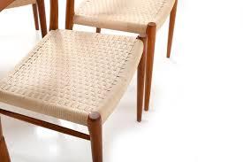 dänische modell 75 esszimmerstühle niels otto møller für jl møllers 1960er 6er set