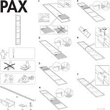 Ikea Brusali Wardrobe Instructions by Pax Door Instructions U0026