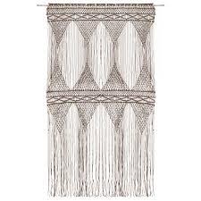 makramee vorhang taupe 140x240 cm baumwolle heimxl de