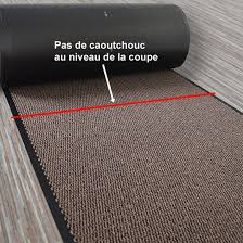 paillasson a la coupe tapis entrée accueil anti salissures à la coupe marron decoweb