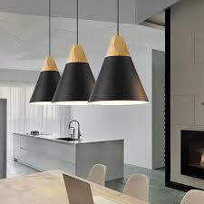 meco 1pc pendelleuchte schwarz vintage hängele aus aluminium und holz e27 pendelle im industrial retro stil hängeleuchte für schlafzimmer