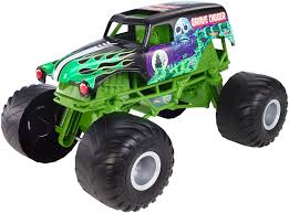 100 Monster Jam Toy Truck Videos Amazoncom Hot Wheels Giant Grave Digger Mattel
