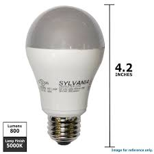 osram sylvania 10w a19 led spectrum 5000k light bulb 60w