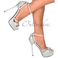 amazon com onlineshoe women u0027s sparkly glitter strappy peep toe