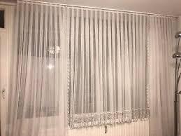 ado wohnzimmer gardinen überhang querbehang komplett gardine