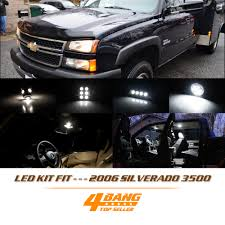 16 Pcs LED Interior Light Package Kit For 2006 Silverado 3500 White ...