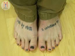2 Corinthians 57 Feet Tattoo