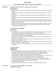 Download Animal Keeper Resume Sample As Image File