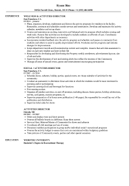 Download Activities Director Resume Sample As Image File