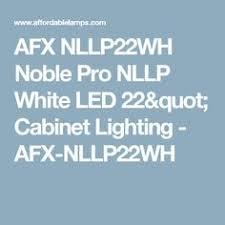 afx nllp9wh noble pro nllp white led 9 counter lighting
