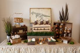 Dinosaur Party Dessert Table Set Up