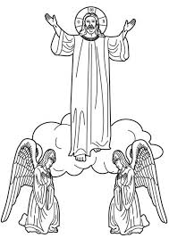 Ascension Of Jesus Christ Coloring Pages 131