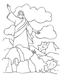 Satan Tempts Jesus Coloring Page