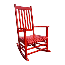 Red Patio Furniture Decor by Shop International Concepts Red Acacia Patio Rocking Chair At