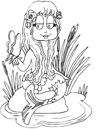 Mermaids 3 Fantasy Coloring Pages