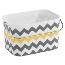 Yellow And Gray Bathroom Decor by Amazon Com Interdesign Una Bathroom Tote Basket With Handle Gray