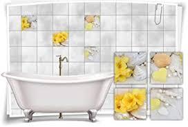kachel dekore fliesenaufkleber fliesenbild orchidee gelb