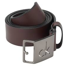 calvin klein jeans casual leather logo belt in brown for men lyst