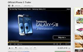 Galaxy mercial on Iphone 5 mercial