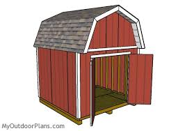 8 X 10 Gambrel Shed Plans by 10x10 Barn Shed Plans Myoutdoorplans Free Woodworking Plans