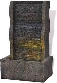 unfadememory zimmerbrunnen mit led beleuchtung polyresin kleine wasserbrunnen wohnzimmer büro tischbrunnen dekoration wasserspiel brunnen typ 4