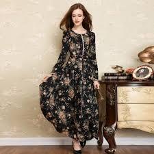 cotton long dresses plus size clothing for large ladies