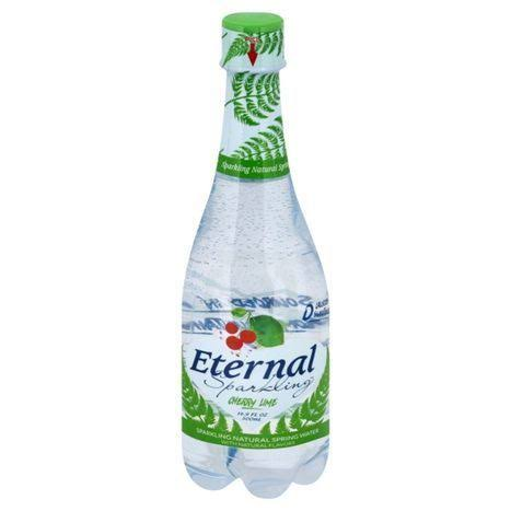Eternal Sparkling Spring Water, Cherry Lime - 16.9 fl oz
