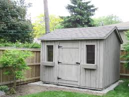 8x12 Storage Shed Kit by 8x12 High Board And Batten Driftwood Shingles And Chatham Fog