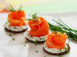 dining canapes recipes cheese smoked salmon appetizer healthy cheap